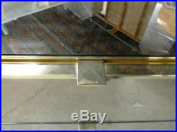 70's Brass Ello Smokey Mirrored Credenza / 9 Drawer Chest Designed By O. B. Solie
