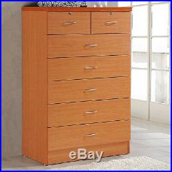 7 Drawer Dresser Chest Storage Bedroom Furniture Clothes Organizer Modern Cherry