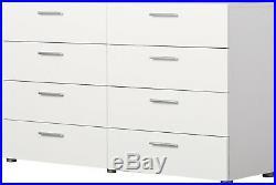 8 Drawer Chest Dresser Storage Bedroom Furniture Clothes Organizer Modern White