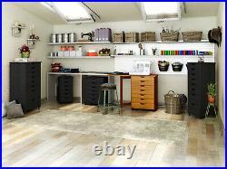 8 Drawer Lingerie Storage Dresser Chest Narrow Tall Space Saver Cabinet Cart Blk
