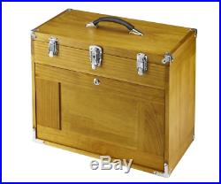 8 Drawer Wood Tool Chest storage Tools Wooden Tool Box Windsor Cabinet Felt