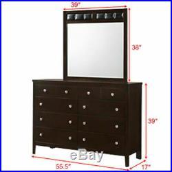8 Drawers Dresser Mirror Set Chest Cabinet Luxury Home Furniture Storage