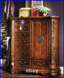 AICO by Michael Amini Excelsior tall chest of drawers