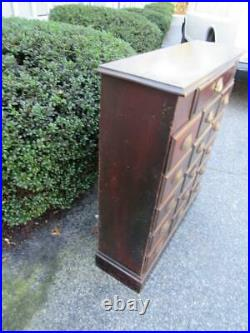 ANTIQUE 19THc MULTI-DRAWER APOTHECARY CABINET CHEST