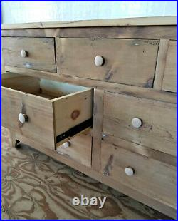 Amish Made Reclaimed Barnwood 7 Drawer Dresser, Chest Of Drawers, Barn Wood