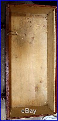 Antique 1800s Vintage Solid Wood Wooden Bedroom Dresser Bachelors Chest 3 Drawer