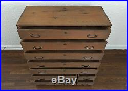 Antique 1912-1926 TAISHU TANSU Chest of Drawers Wooden Japanese Furniture