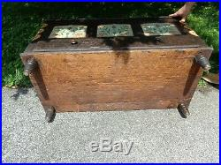 Antique 19th. C Painted Blanket Chest with 2 Outside Drawers & Candle Box