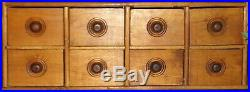 Antique 8 Drawer Spice Cabinet/Box/Cupboard/4Over 4-Wood Finish/Apothecary/Chest