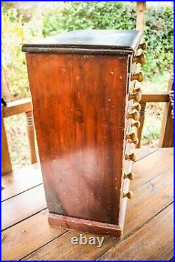 Antique Collectors Cabinet Specimen Chest of Drawers Solid Wood Large