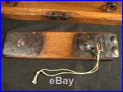 Antique Edo Era Japanese 7 Drawer Kiri Wood Bow-dansu Personal Tansu Chest
