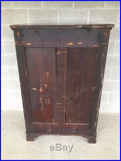 Antique Empire Neoclassical Style Mahogany Paw Foot Chest Of Drawers
