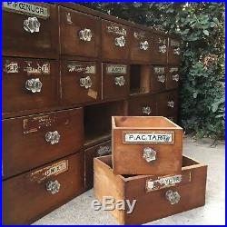 Antique English Apothecary Cabinet/Chest of drawers 1800s Victorian Pharmacist