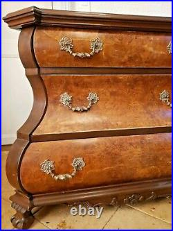 Antique French Dutch Bombe, Baroque Style Chest of Drawers