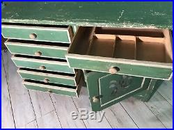 Antique Irish hand painted chest of drawers with original paint