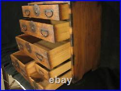 Antique Japanese 6 Drawer Kiri Wood (paulownia) Ko-dansu Personal Tansu Chest