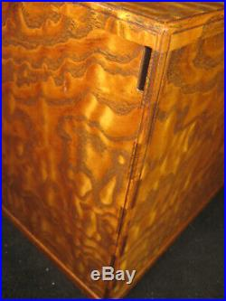 Antique Japanese Burl Mulberry Wood 7 Drawer Haribako Sewing Tansu Chest Secret