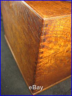 Antique Japanese Burl Zelkova Wood 7 Drawer Haribako Sewing Tansu Chest Secret