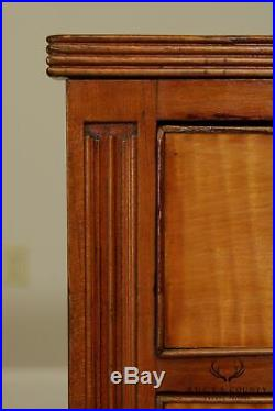 Antique Sheraton Cherry and Tiger Maple Chest of Drawers, Dresser