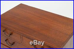 Antique Victorian/Edwardian Mahogany Wood Chest of Drawers Sewing/Jewellery Box