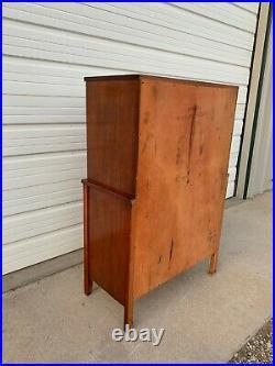 Antique Wood Chest of Drawers Dresser Hepplewhite Mahogany Vintage Server Buffet