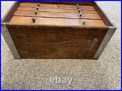 Antique Wood Metal 6 Drawer Machinist Chest Tool Box