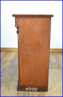Antique large Victorian flame mahogany Scotch chest of drawers