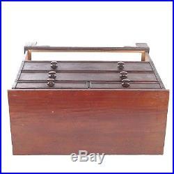 Antique mule chest blanket chest drawer trunk 18th c rustic primitive