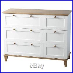 Arcadia 3 Drawer Chest White/Ash Bedroom Wooden Cabinet Bedding Modern Classic