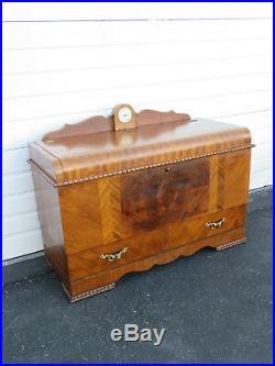 Art Deco Waterfall Cedar Chest Trunk with Drawer by Lane 9492A