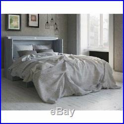 Atlantic Furniture Deerfield Queen Murphy Bed Chest in Driftwood