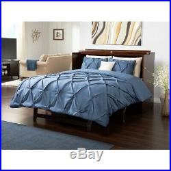 Atlantic Furniture Deerfield Queen Murphy Bed Chest in Walnut