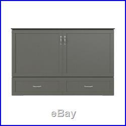 Atlantic Furniture Hamilton Queen Murphy Bed Chest in Gray