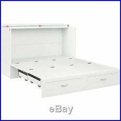 Atlantic Furniture Hamilton Queen Murphy Bed Chest in White