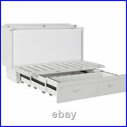 Atlantic Furniture Monroe Queen Murphy Bed Chest in White