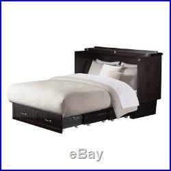 Atlantic Furniture Nantucket Queen Murphy Bed Chest in Espresso