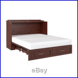 Atlantic Furniture Southhampton Queen Murphy Bed Chest in Walnut