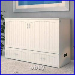 Atlantic Furniture Southhampton Queen Murphy Bed Chest in White