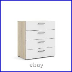 Austin 4 Drawer Chest in Oak Structure/White High Gloss