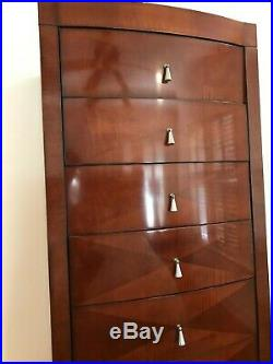 Barbara Barry for Baker Art Deco-Style Mahogany Chest of Drawers (72x20x24)