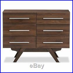 Baxton Studio Auburn Mid-Century Modern Wood 6-Drawer Dresser