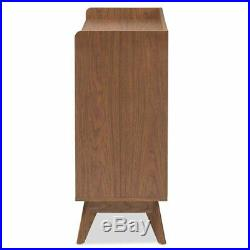 Baxton Studio Brighton 6 Drawer Double Dresser in White and Walnut