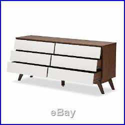 Baxton Studio Hildon 6-Drawer Storage Dresser