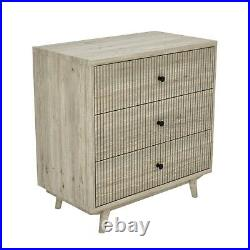 Beau Solid Wood 3 Drawer Chest of Drawers Scandi Style BEAU03