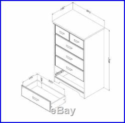 Bedroom Dresser 5 Drawer Dressers Furniture Women Kids Men Storage Chest New A+