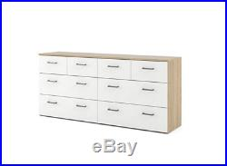 Bedroom Dresser 8 Drawer Clothes Storage Double Chest of Drawers Pre-Drill Hole