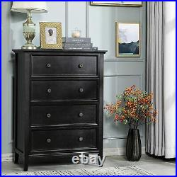 Bedroom Living Room Chest of Dresser Large Storage Cabinet Organizer with4 Drawers