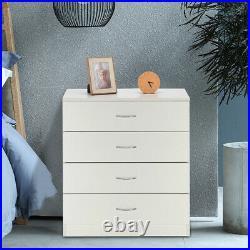 Bedroom Storage Dresser 4 Drawers with Cabinet Wood Furniture Bedroom Chest