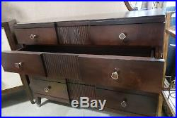 Bernhardt Haven Four Drawer Media Chest Wood Veneers and Solids Brunette Finish