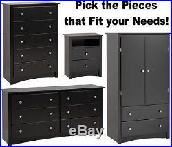 Black Bedroom Furniture Armoire Dresser Drawer Nightstand Chest Dressers Sets